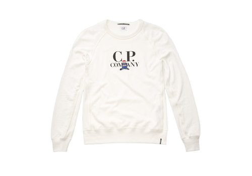 C.P. Company C.P. Company comic series fleece 30/1 crew sweatshirt White