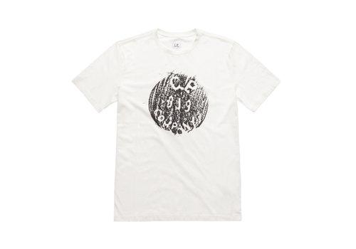 C.P. Company C.P. Company jersey 30/1 button print crew t-shirt White