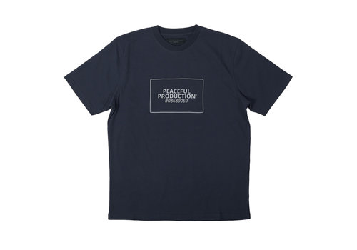 Peaceful Production Peaceful Production box logo t-shirt Navy