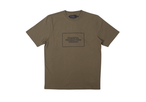 Peaceful Production Peaceful Production box logo t-shirt Khaki