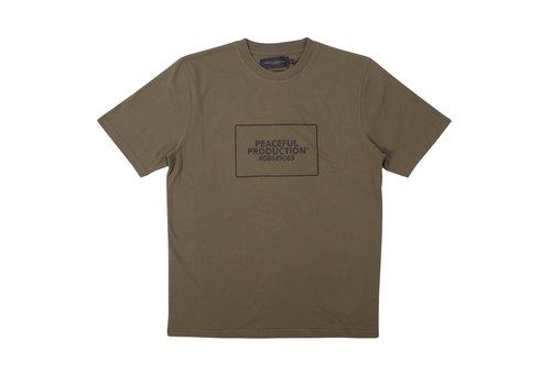 Peaceful Production Peaceful Production box logo t-shirt Khaki