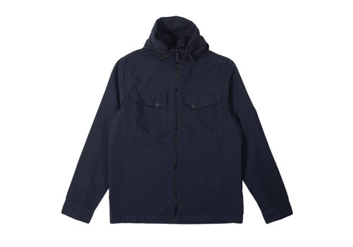 Peaceful Production Peaceful Production concealed overshirt Navy