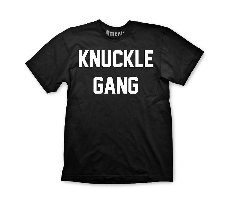 Omerta knuckle gang t-shirt Black