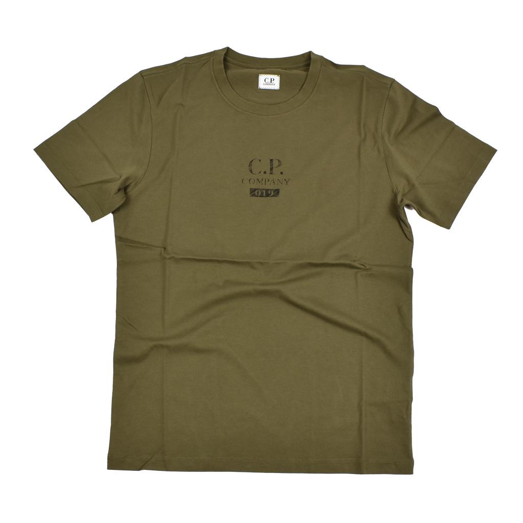 CP Company 19 Logo Crew T-Shirt Khaki