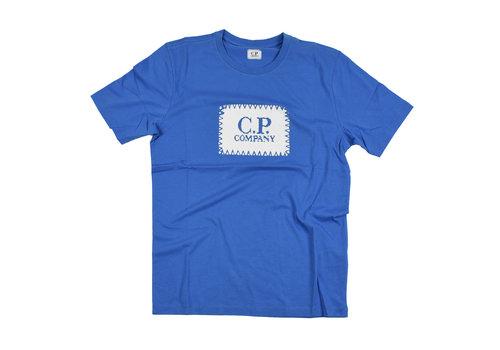 C.P. Company C.P. Company jersey 30/1 label print crew t-shirt Blue