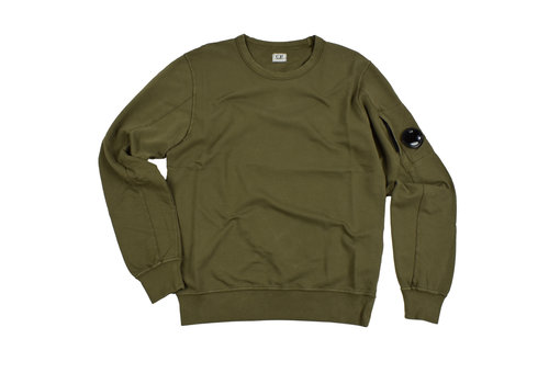 C.P. Company C.P. Company garment dyed light fleece lens crew sweatshirt Olive green