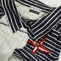 Stone Island striped 83.03_20th anniversary collection polo shirt XL