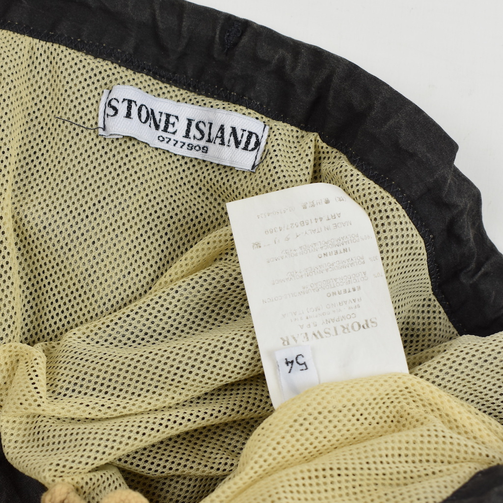 no sale tax detailed pictures free delivery Stone Island Stone Island faded black cotton shorts 54