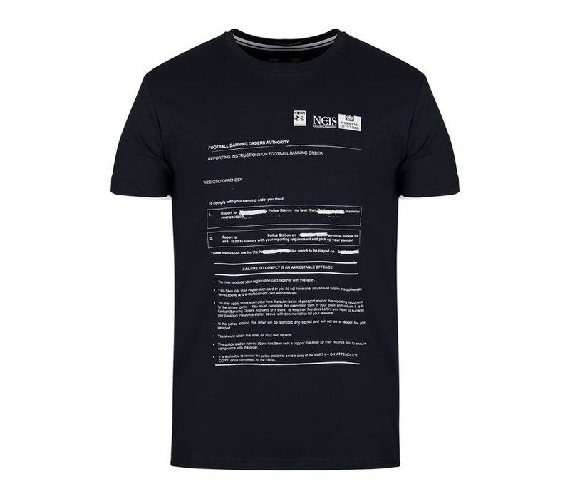 Weekend Offender Banning order t-shirt Navy