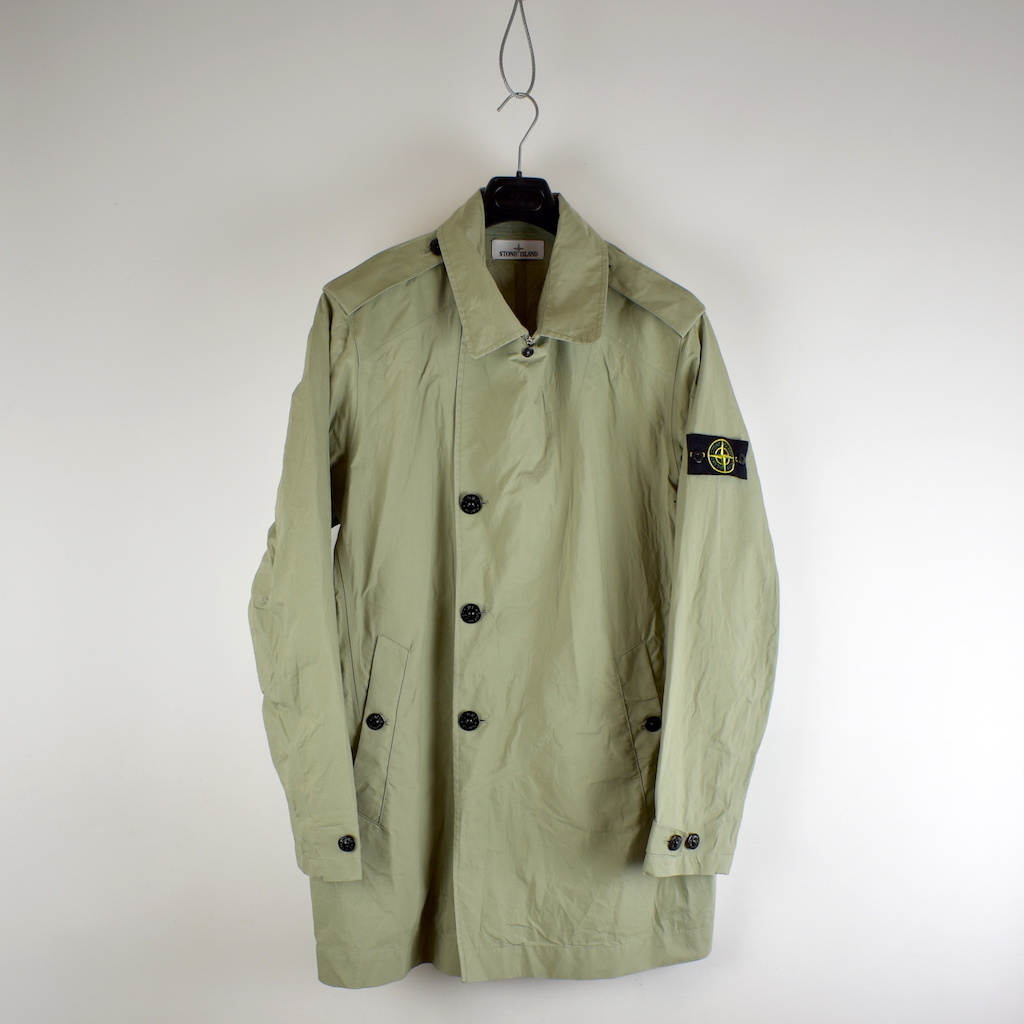 top-rated discount shop for original clearance prices Stone Island beige 3l performance cotton trench coat XXXL