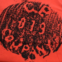 C.P. Company jersey 30/1 button print crew t-shirt Red