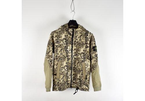 Stone Island Stone Island beige alligator camo full zip hooded sweatshirt S