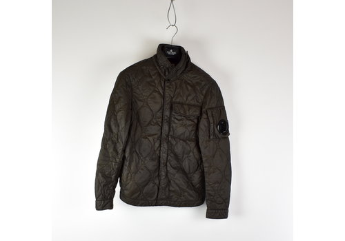 C.P. Company C.P. Company brown quilted arm lens overshirt jacket 46