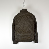 C.P. Company brown quilted arm lens overshirt jacket 46