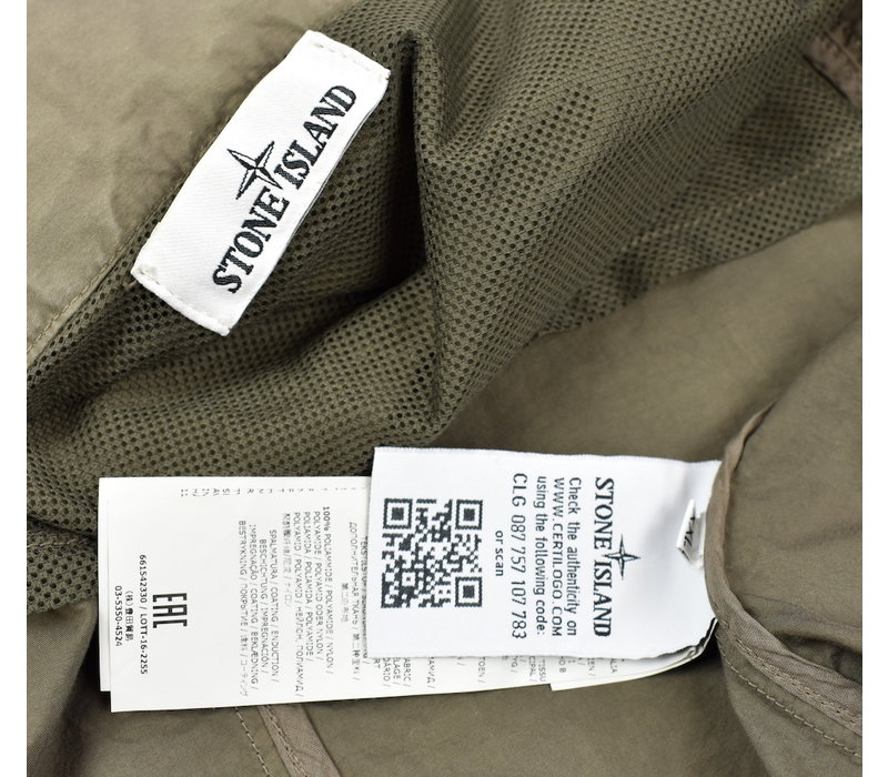 Stone Island grey light cotton nylon twill jacket XXL