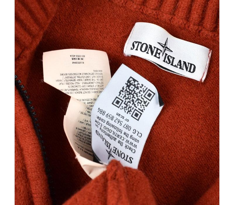 Stone Island red quarter zip neck knit L