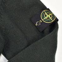 Stone Island green full zip knit XL