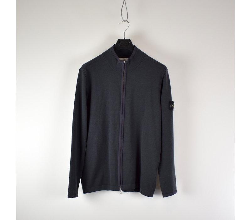 Stone Island grey full zip knit XXL