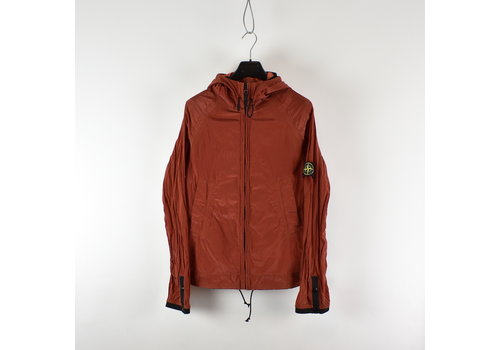 Stone Island Stone Island red nylon metal hooded jacket L