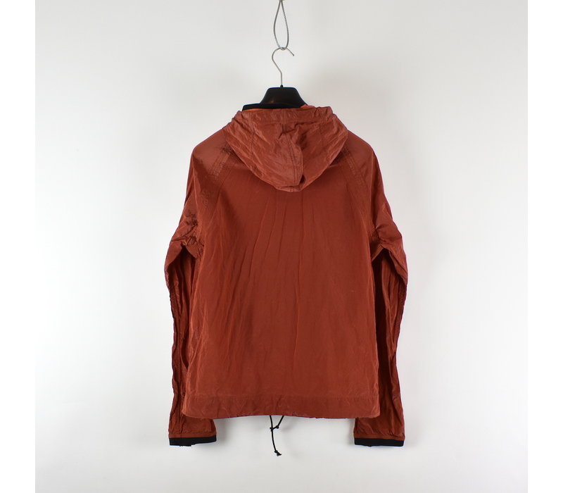 Stone Island red nylon metal hooded jacket L