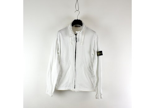 Stone Island Stone Island white cotton full zip sweat jacket L