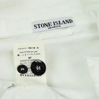 Stone Island white cotton full zip sweat jacket L