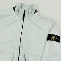 Stone Island white micro rip stop 7 den tyvek shield bomber jacket M
