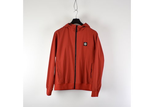Stone Island Stone Island red light soft shell-r hooded jacket XXL