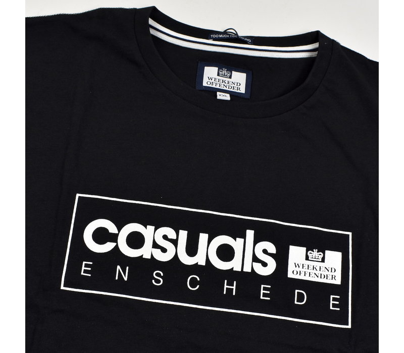 Weekend Offender City Series 3.0 Casuals Enschede t-shirt Black