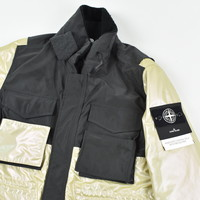 Stone Island iridescent coating tela with reflex mat lined parka L