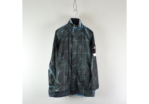 Stone Island Stone Island paper poly with si house check grid long jacket L