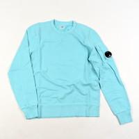 C.P. Company garment dyed light fleece lens crew sweatshirt Blue radiance