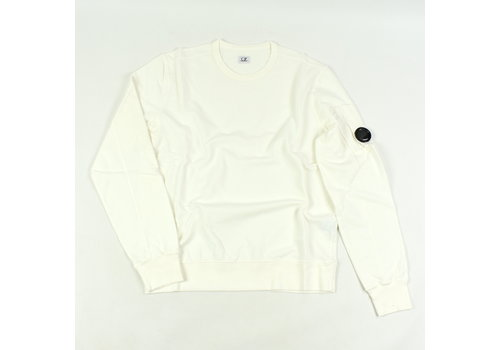 C.P. Company C.P. Company garment dyed light fleece lens crew sweatshirt White