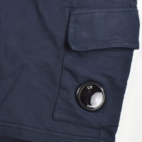 C.P. Company garment dyed light fleece lens pocket sweatshort Navy