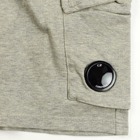 C.P. Company garment dyed light fleece lens pocket sweatshort Grey