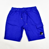 C.P. Company garment dyed light fleece lens pocket sweatshort Electric blue