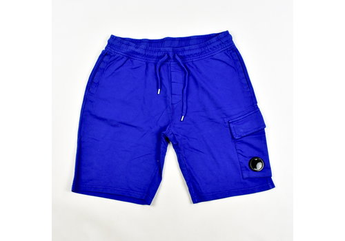 C.P. Company C.P. Company garment dyed light fleece lens pocket sweatshort Electric blue