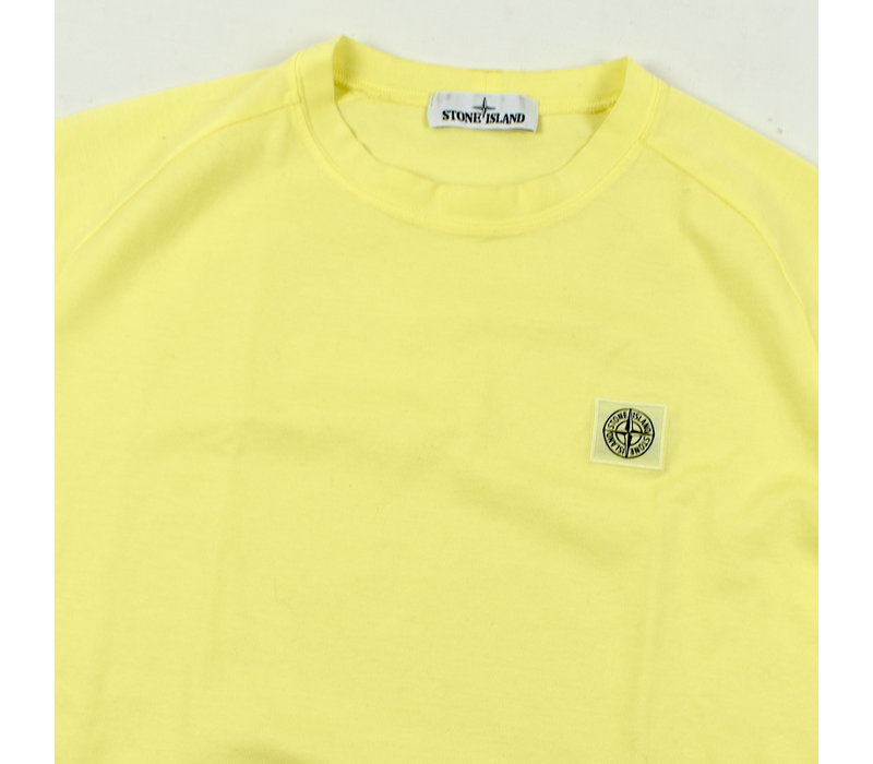 Stone Island yellow oversized patch program t-shirt M