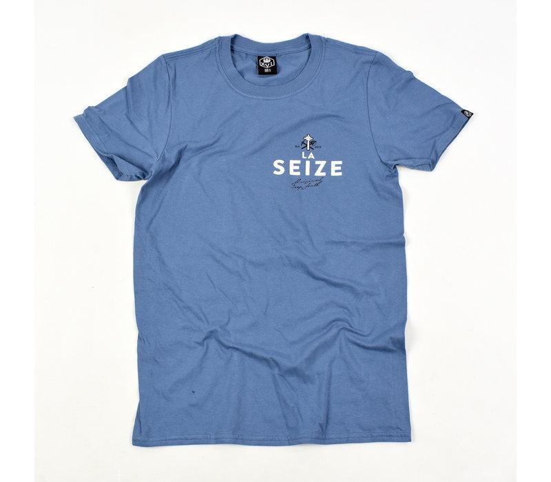 Laseize XVI pocket print t-shirt Blue