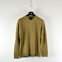 Stone Island shadow project brown cotton pique crew neck sweatshirt XL