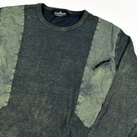 Stone Island shadow project olive dust colour treatment cotton crew neck sweatshirt XL