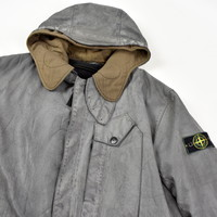 Stone Island grey radiale esploso lined trench coat XL