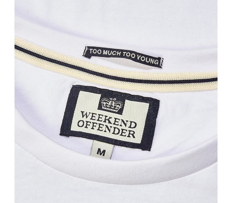 Weekend Offender Rogue series Silvio t-shirt White