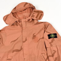 Stone Island X Supreme camo riot mask hooded jacket M