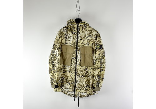Stone Island Stone Island beige alligator camo hooded fishtail parka M