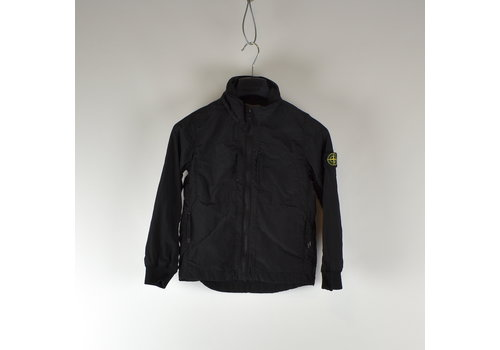 Stone Island Stone Island junior black reflective logo overshirt jacket age 8