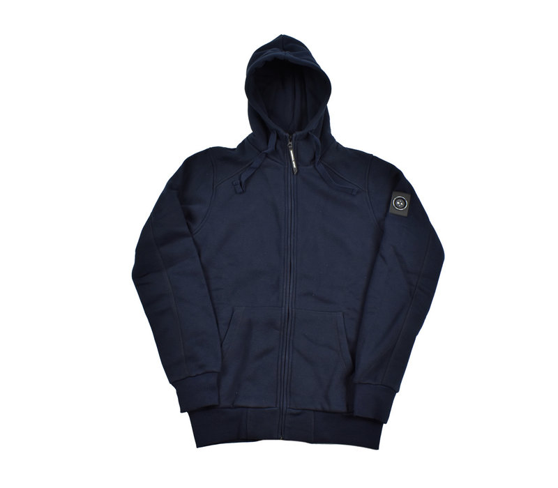 Marshall Artist siren full zip hood sweatshirt Navy