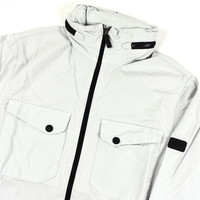 Peaceful Production concealed overshirt Ice