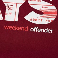 Weekend Offender Away Days t-shirt Garnet