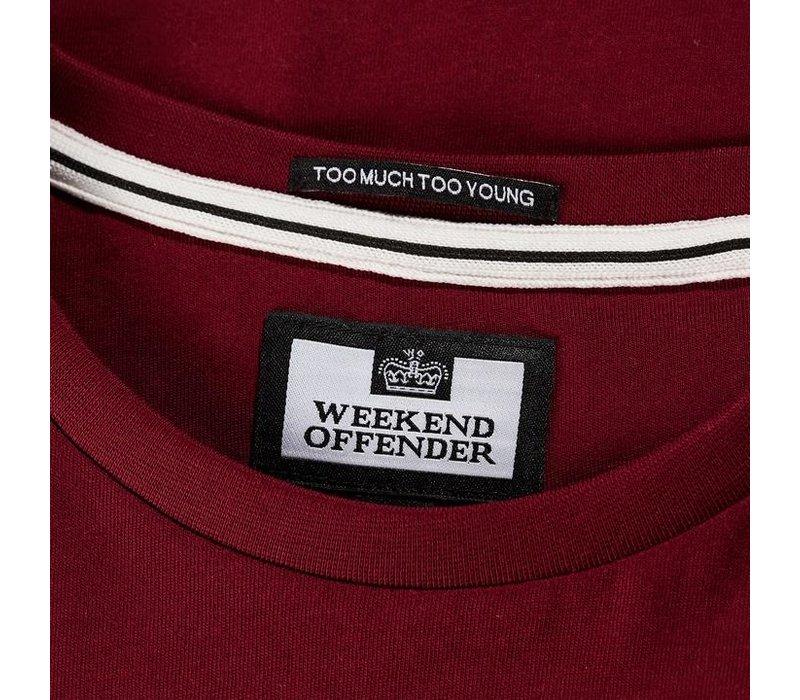 Weekend Offender Trouble t-shirt Garnet